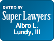 Rated by Super Lawyers - Albro Lundy